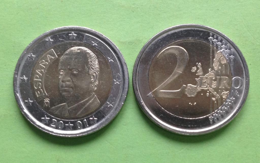 Испания 2 евро 2001 г.