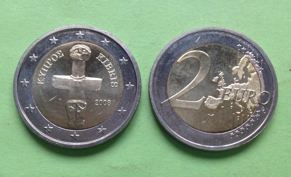 Кипр 2 евро 2008 г.