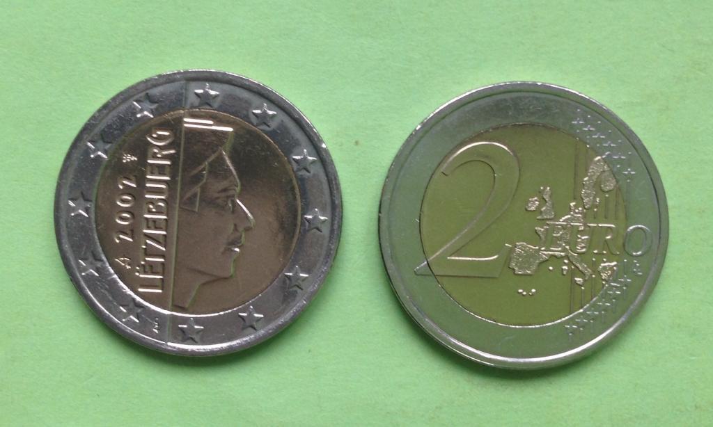 Люксембург 2 евро 2002 г.
