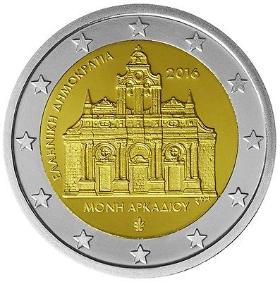 Греция 2 евро 2016 г. 150-летие поджога монастыря Аркади