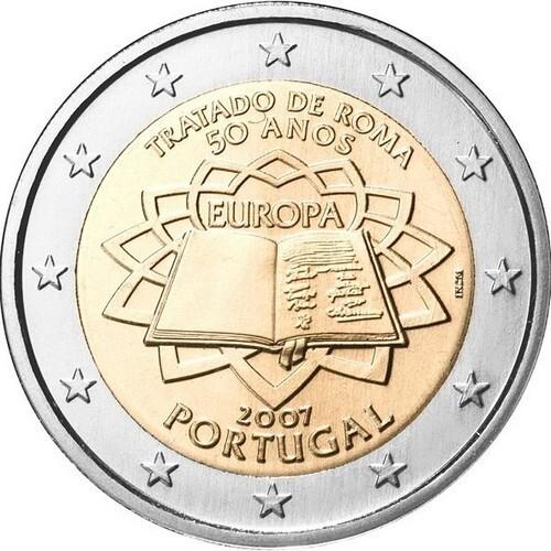 Португалия 2 евро 2007 г. Римский договор