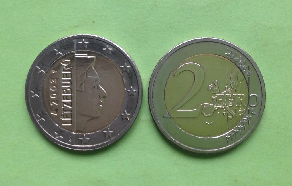 Люксембург 2 евро 2003 г.