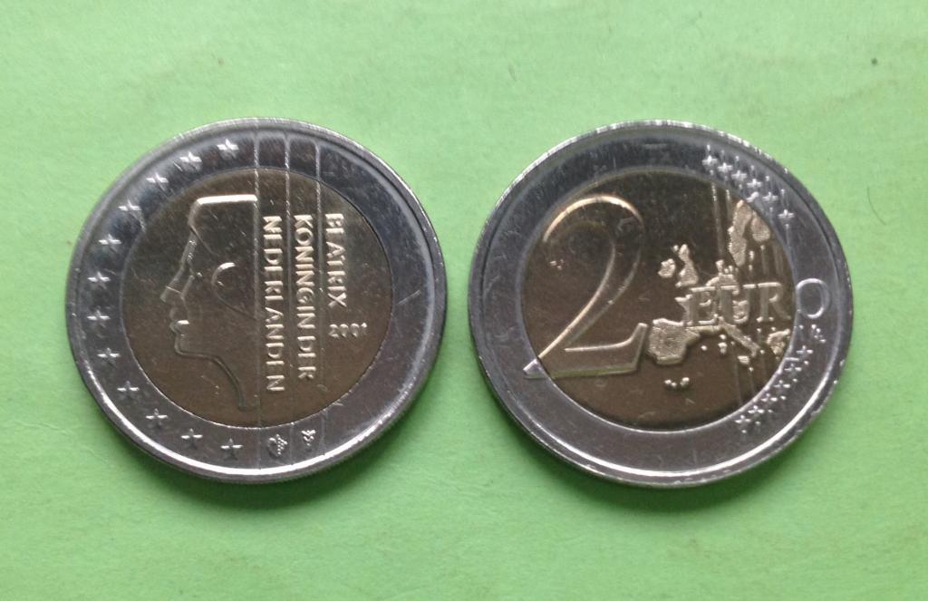Нидерланды 2 евро 2001 г.