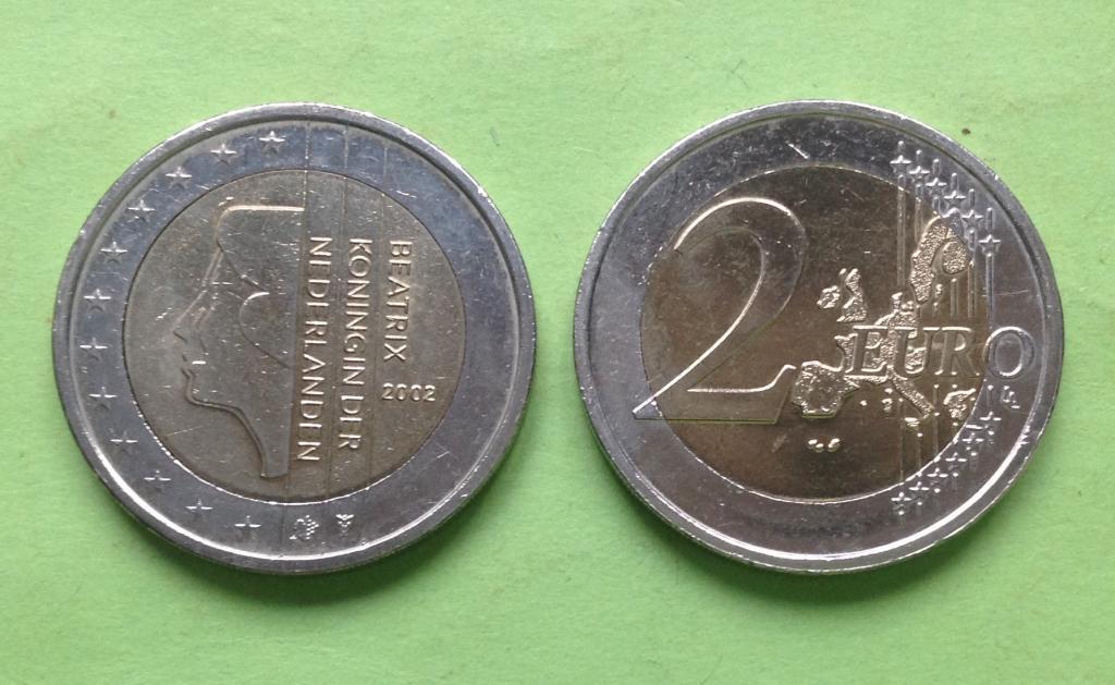 Нидерланды 2 евро 2002 г.