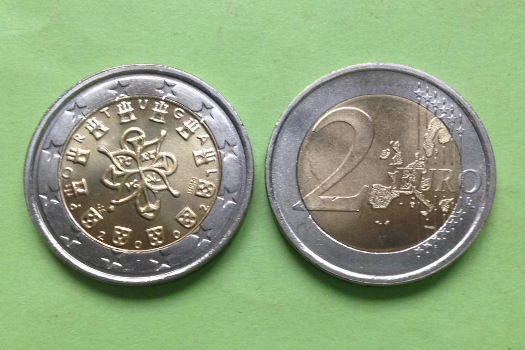 Португалия 2 евро 2002 г.