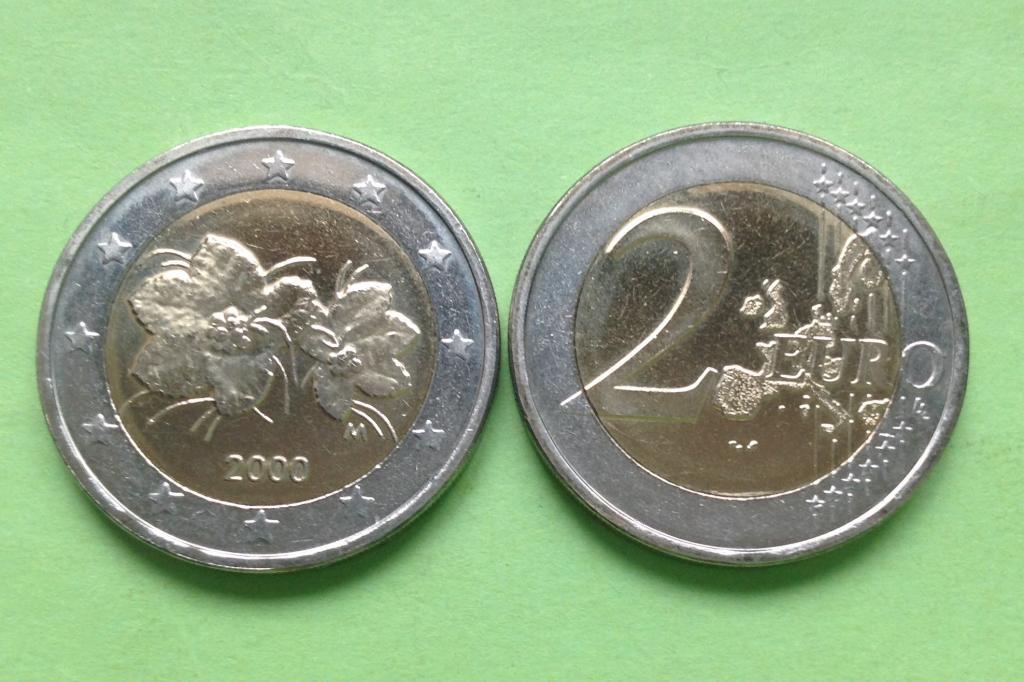 Финляндия 2 евро 2000 г.