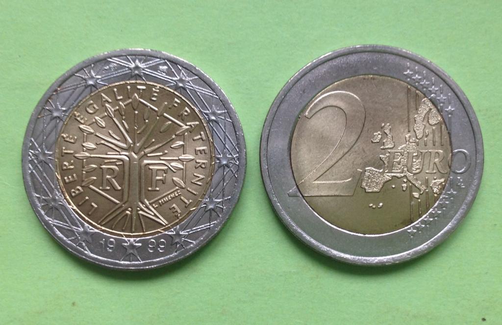 Франция 2 евро 1999 г