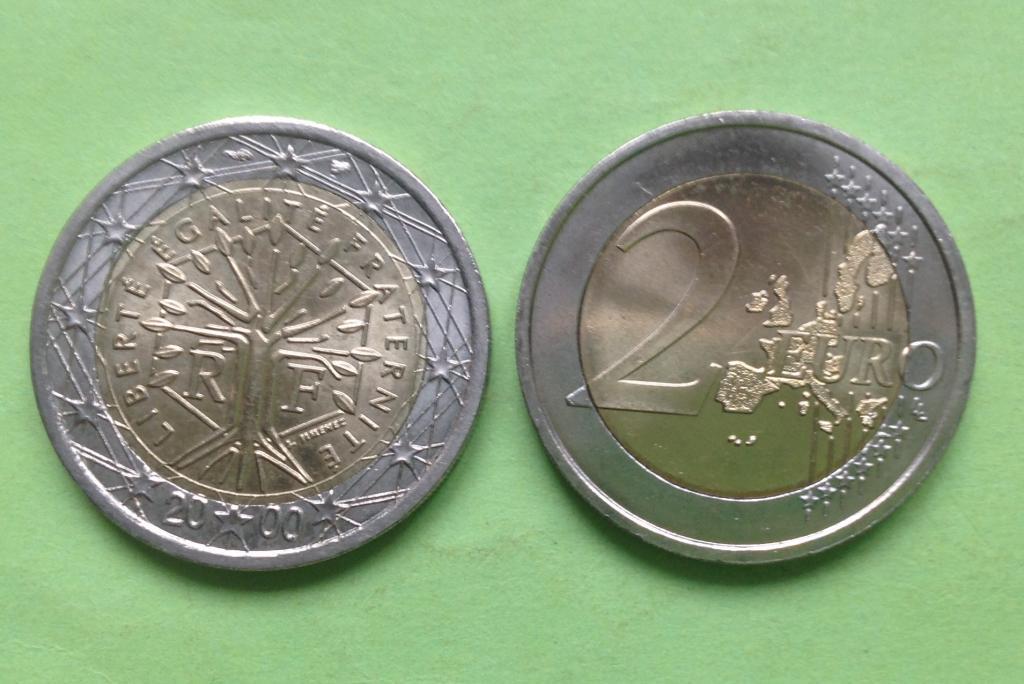 Франция 2 евро 2000 г