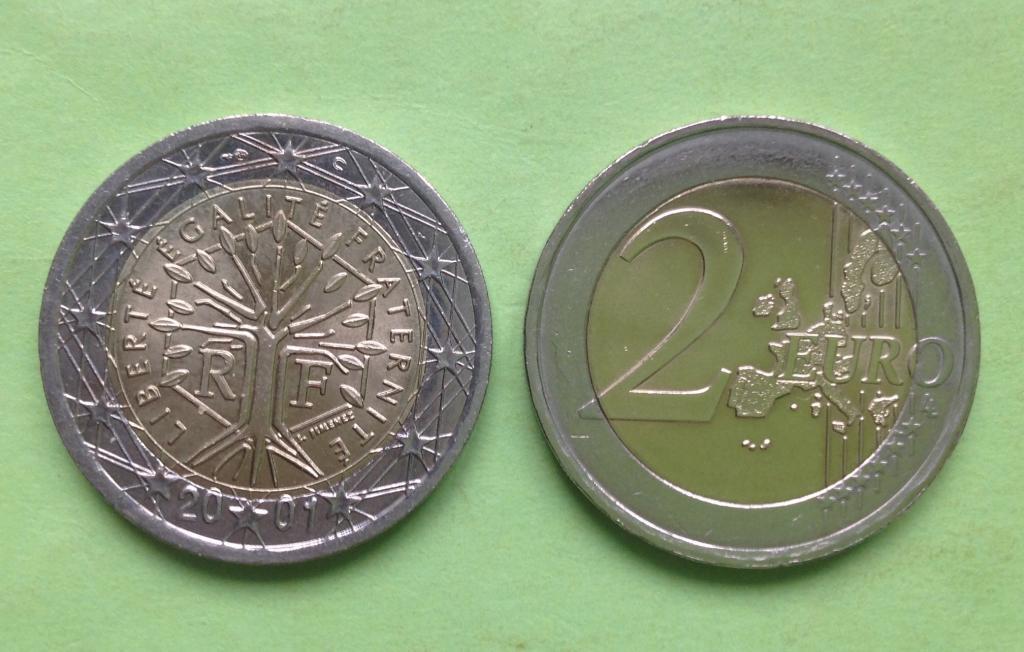 Франция 2 евро 2001 г