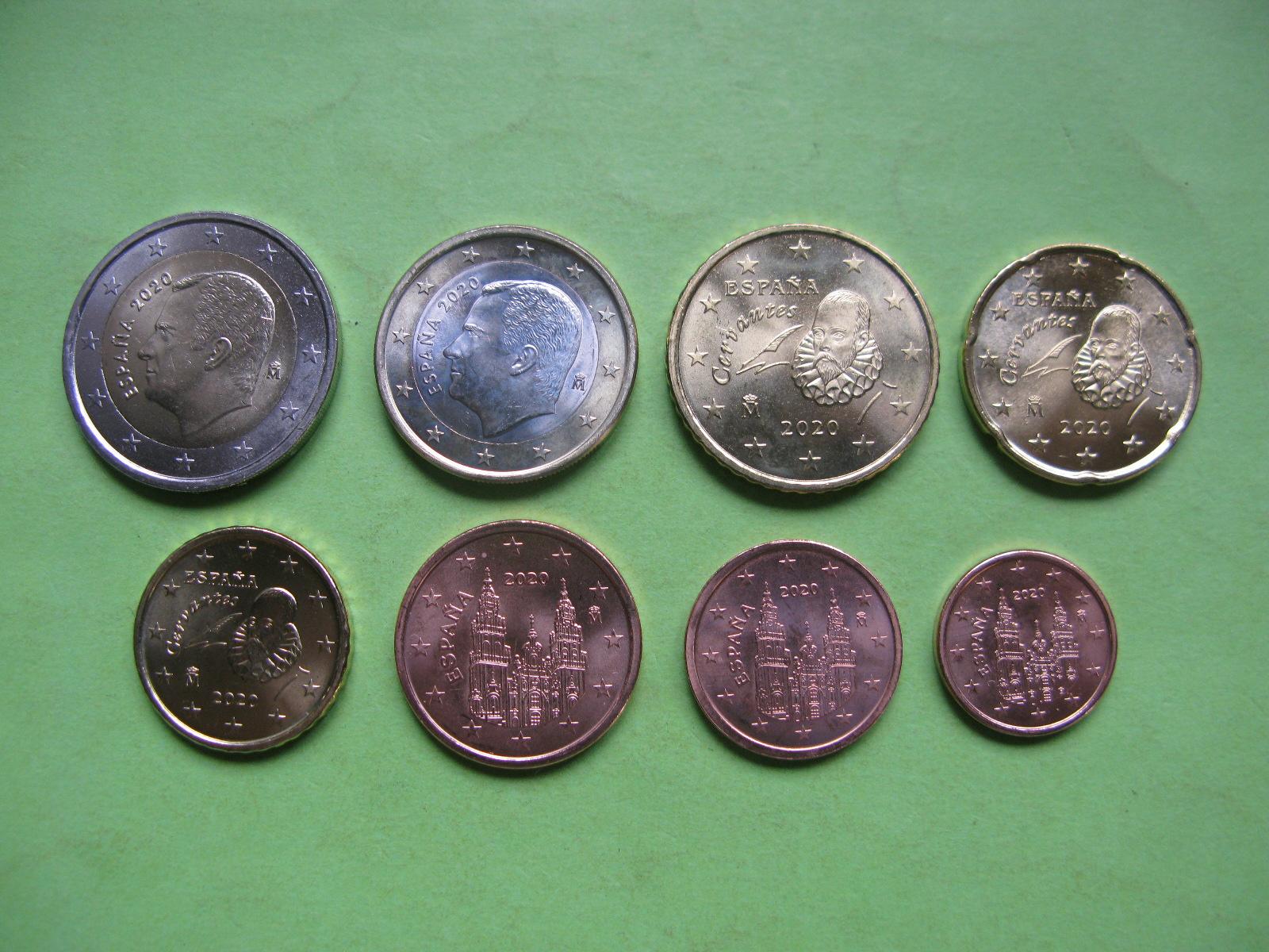 Испания набор евро 2020  UNC