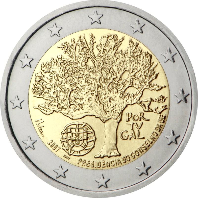 Португалия 2 евро 2007 г.  Председательство в ЕС