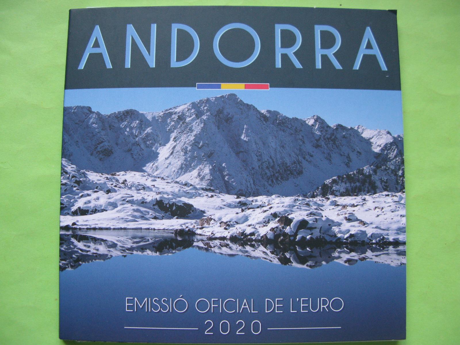Андорра официальный набор евро 2020 г.