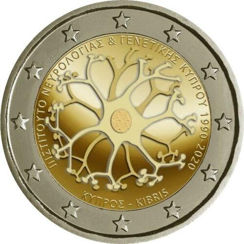 Кипр 2 евро 2020 г. 30-летие Кипрского института неврологии и генетики