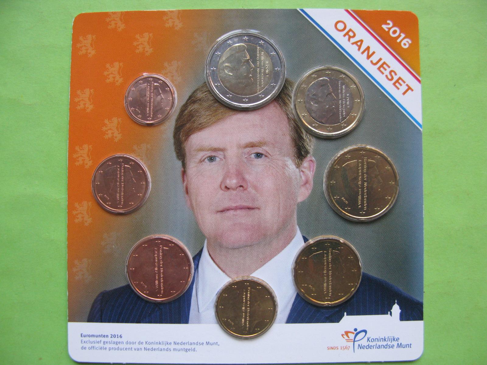 Нидерланды , официальный набор евро  2016 г.