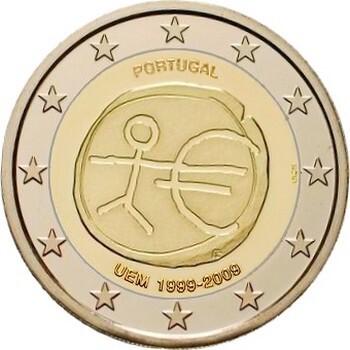 Португалия 2 евро 2009 г. 10 лет экономическому союзу