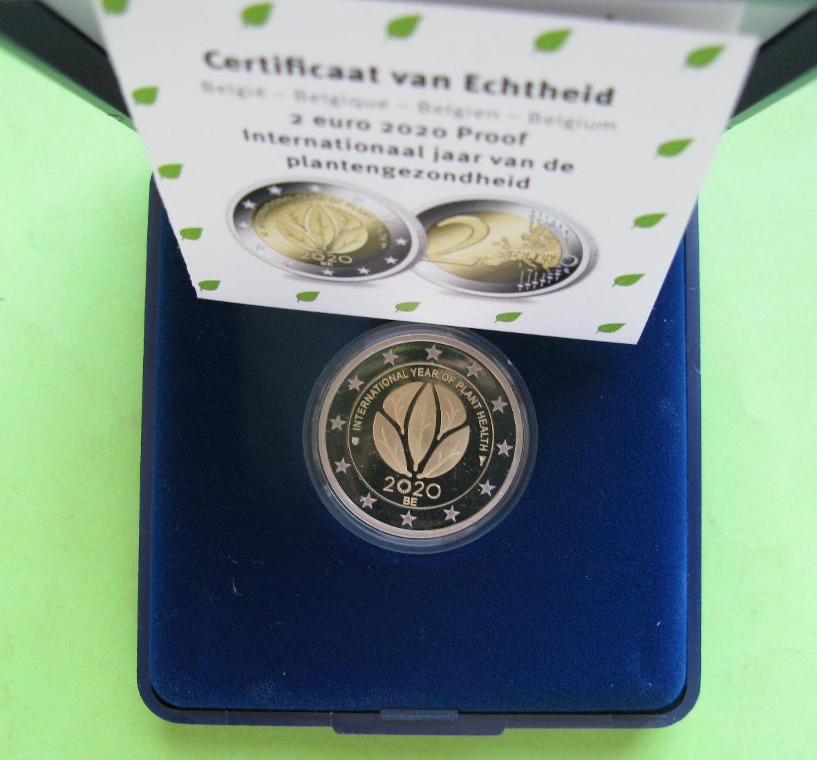 Бельгия 2 евро 2020 г. Международный год охраны здоровья растений (пруф)