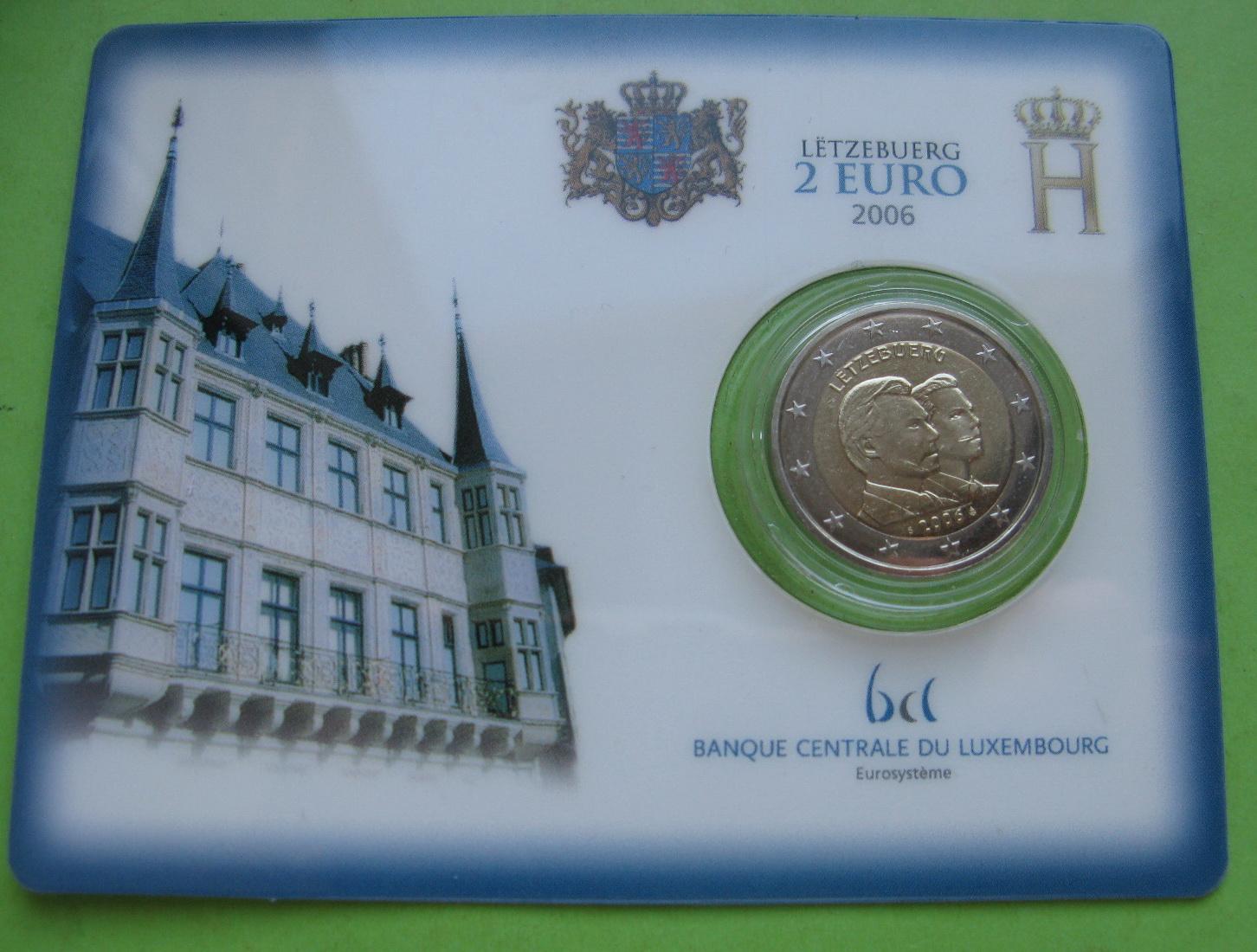 Люксембург 2 евро 2006   Принц Гийом ( в карточке)