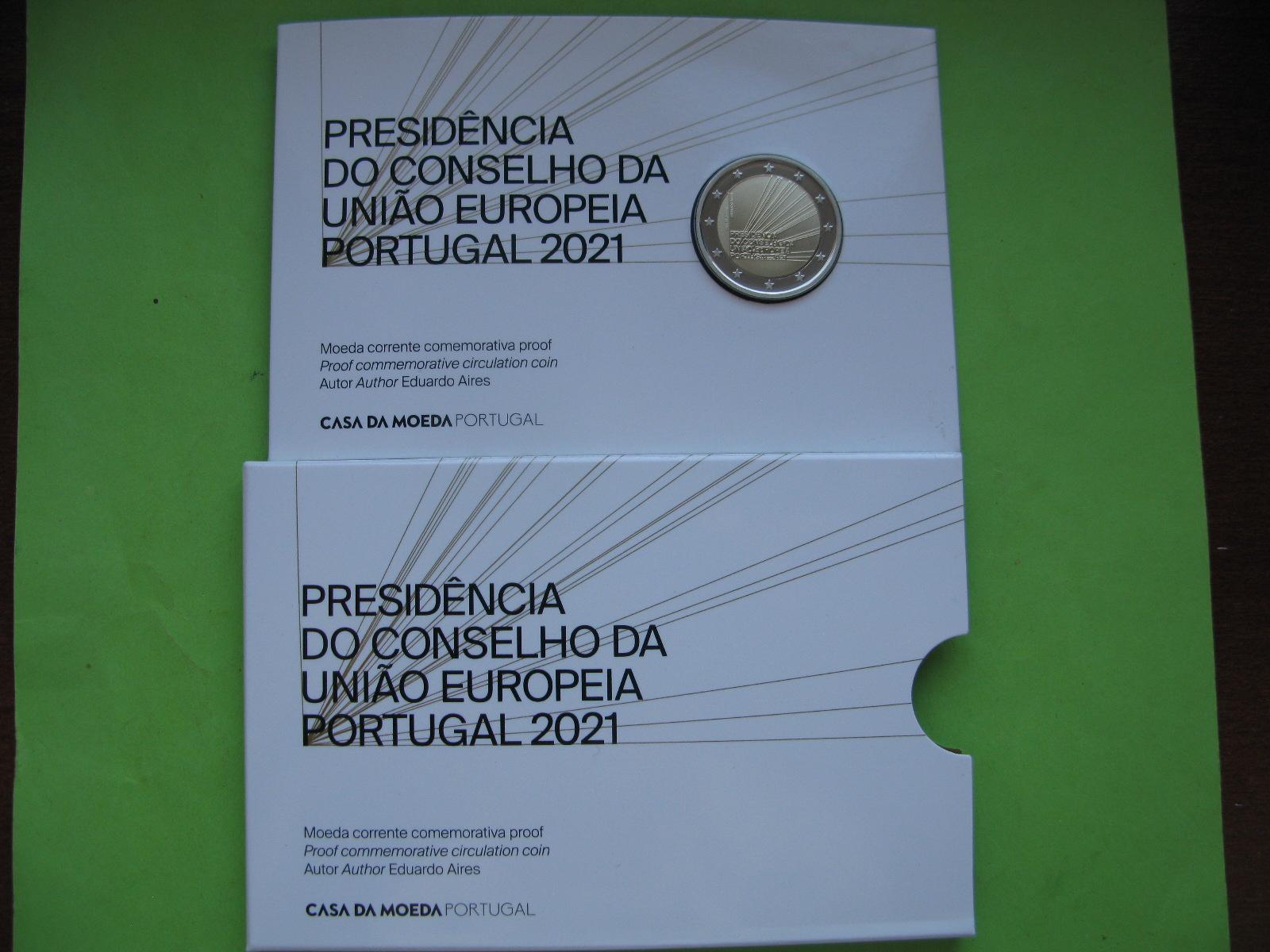Португалия 2 евро 2021 г. Председательство Португалии в Совете ЕС (пруф)