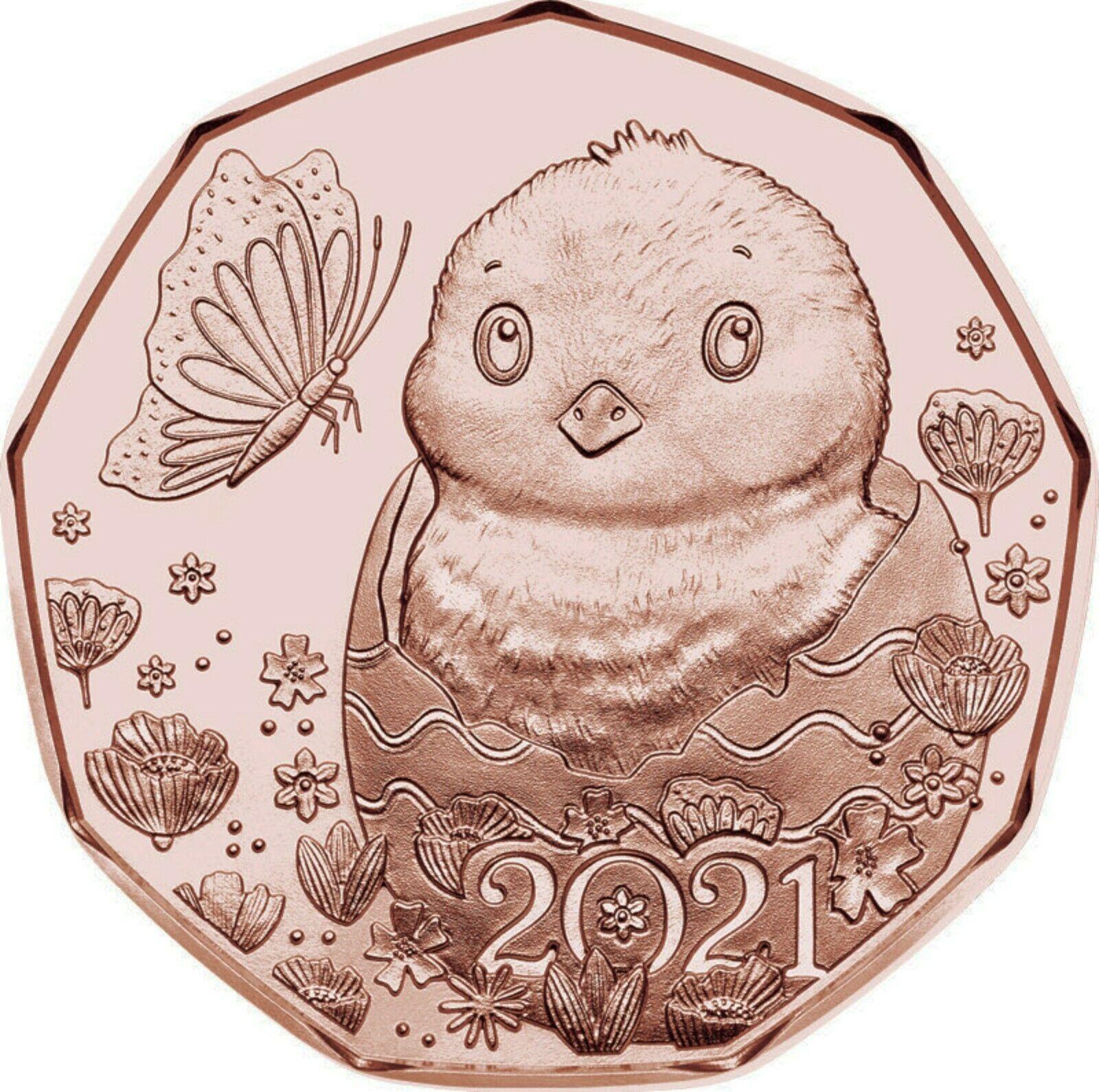Австрия 5 евро 2021 г. Пасхальные цыплята