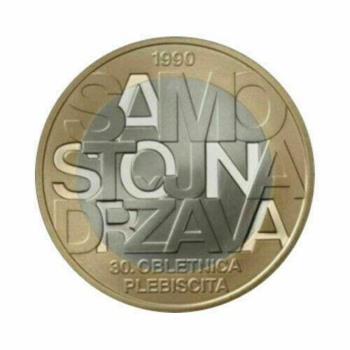Словения 3 евро 2020 г. 30 лет со дня референдума о независимости Словении.