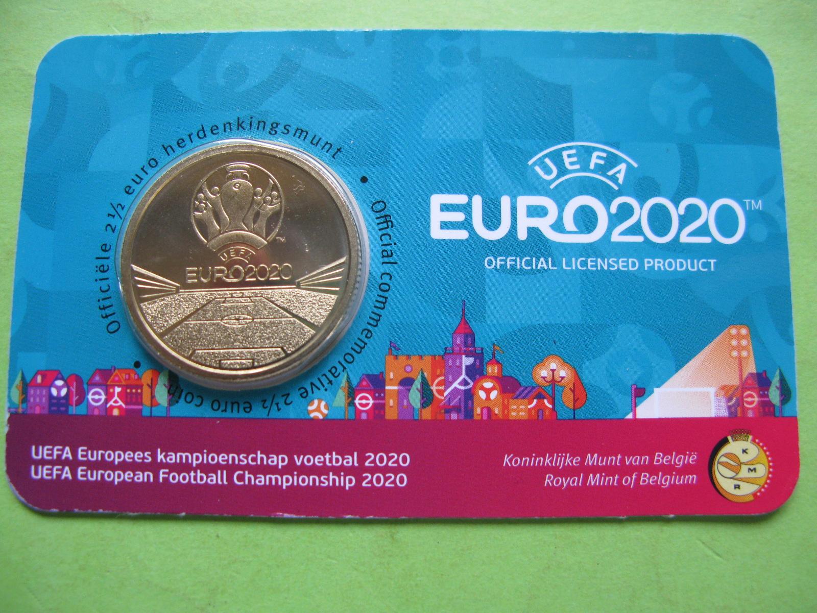 Бельгия 2,5 евро 2021 г.  Чемпионат Европы по футболу
