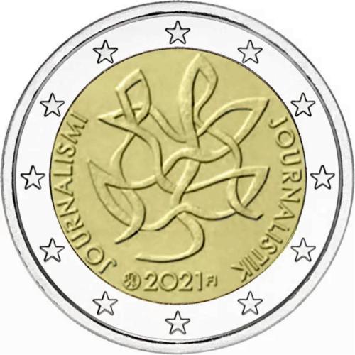 Финляндия 2 евро 2021 г. Журналистика