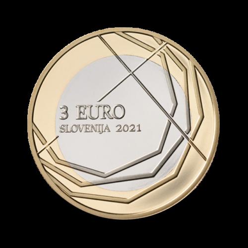 Словения 3 евро 2021 300 лет с первого дня проведения шествия  в Шкофья-Лока