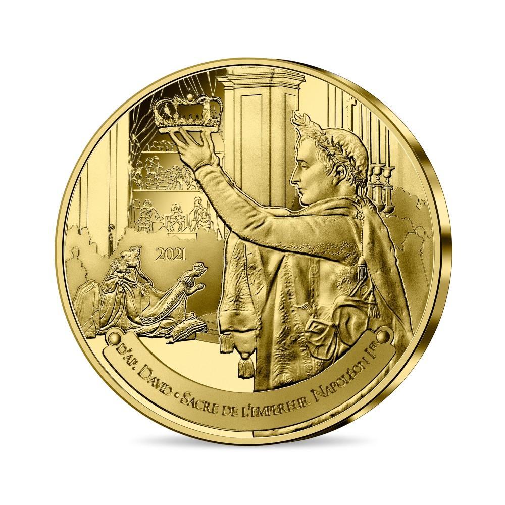 Франция 1/4 евро 2021 г. Коронация Наполеона I