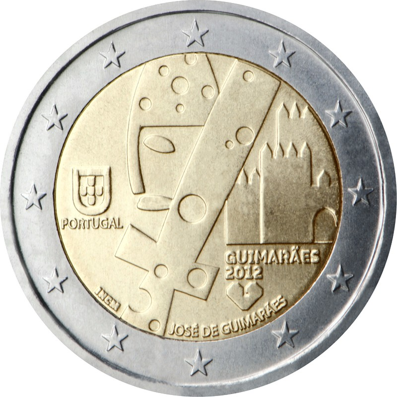 Португалия 2 евро 2012 г. Гимарайнш