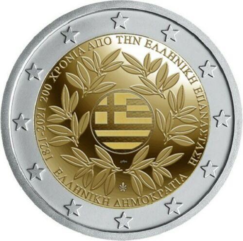 Греция 2 евро 2021 г. 200-летие Греческой революции