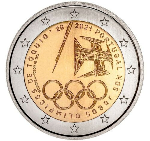 Португалия 2 евро 2021 г. Олимпиада в Токио