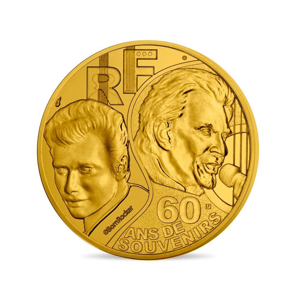 Франция 1/4 евро 2020 г. Джонни Холлидей