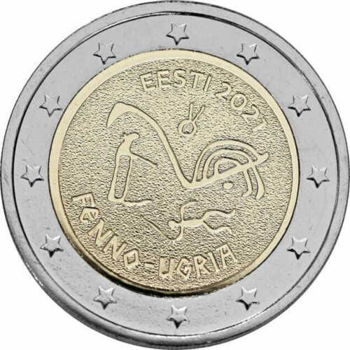 Эстония 2 евро 2021 г. Финно-угорские народы