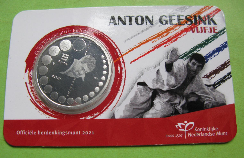 Нидерланды 5 евро 2021  Антон Гесинк
