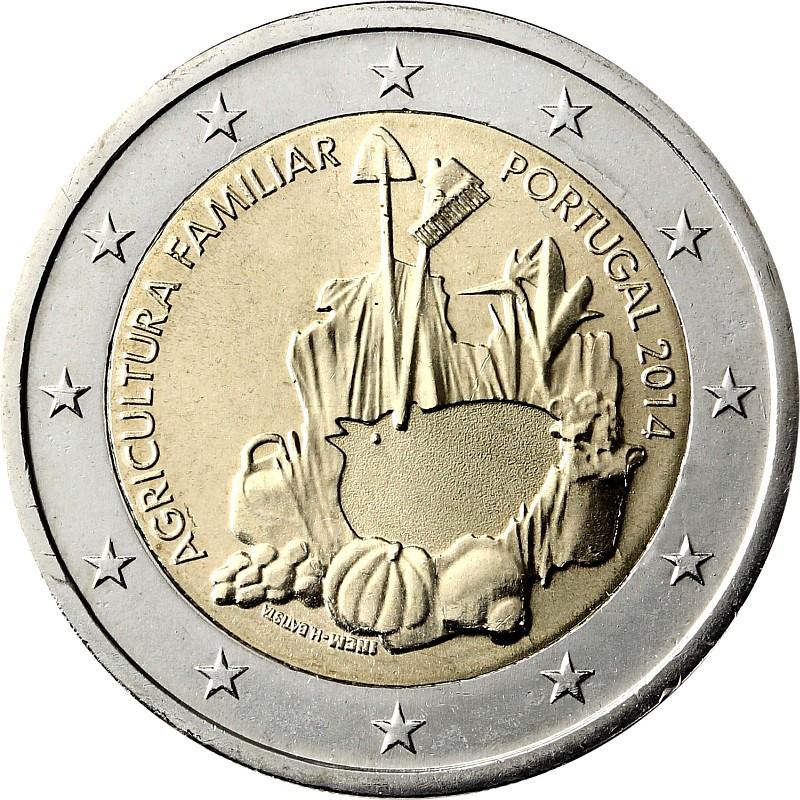 Португалия 2 евро 2014 г.  Фермерские хозяйства