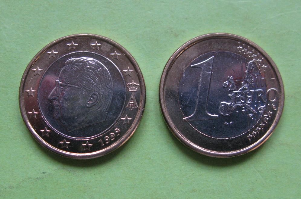 Бельгия 1 евро  1999 г. UNC