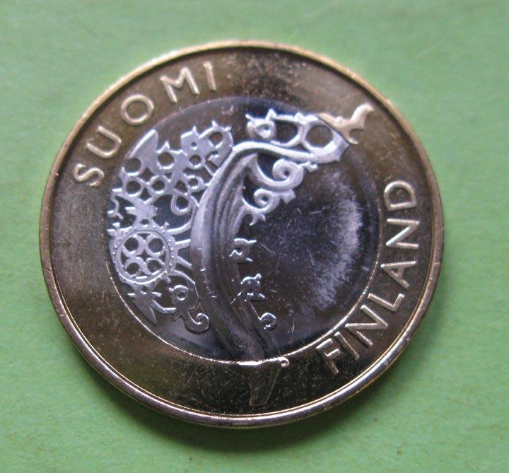 Финляндия 5 евро 2010 г. Исконная Финляндия