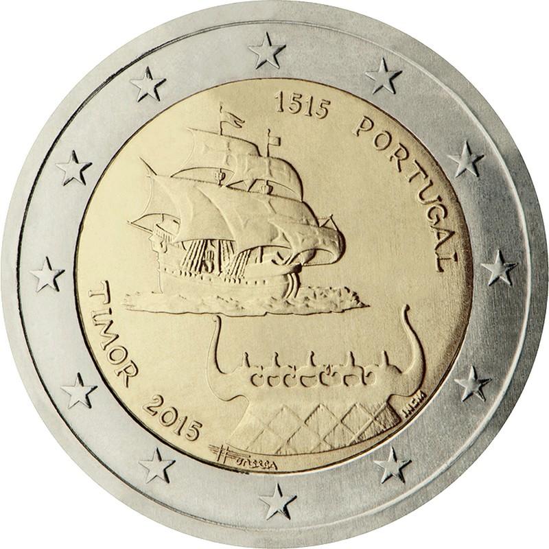 Португалия 2 евро 2015 г.  Тимор