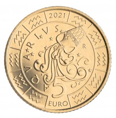 Сан Марино 5 евро 2021 Водолей