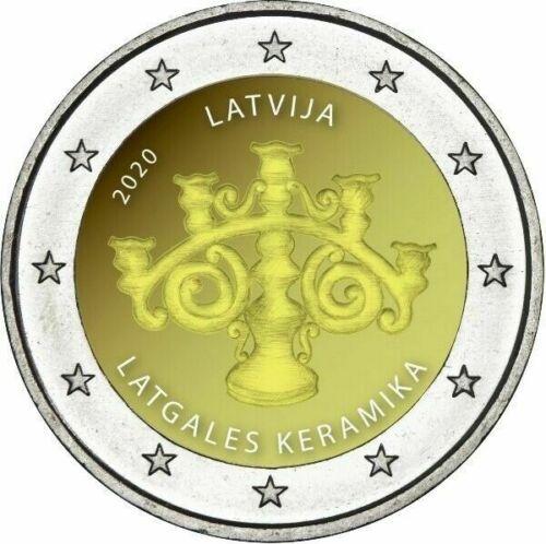 Латвия 2 евро 2020 г. Латгальская керамика