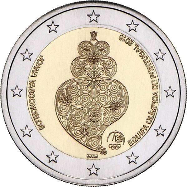Португалия 2 евро 2016 г.  Олимпиада в РИО