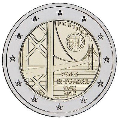 Португалия 2 евро 2016 г.  Мост 25 апреля
