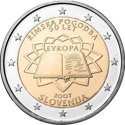 Словения 2 евро 2007 г. Римский договор