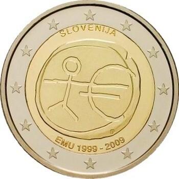 Словения 2 евро 2009 г. 10 лет экономическому союзу