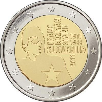 Словения 2 евро 2011 г. Франц Розман