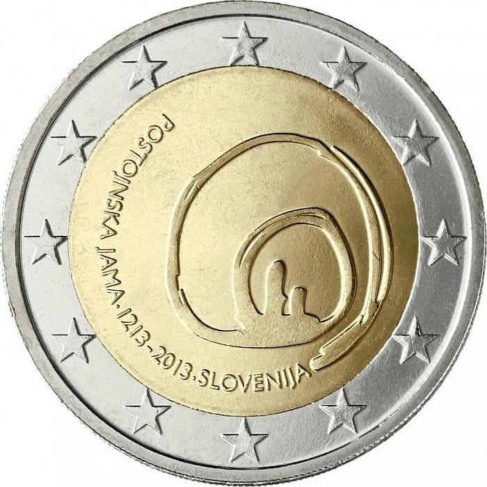 Словения 2 евро 2013 г. Постойнска Яма