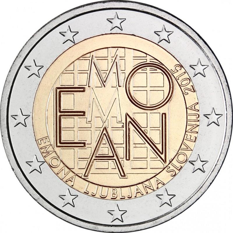 Словения 2 евро 2015 г. Поселение Эмона