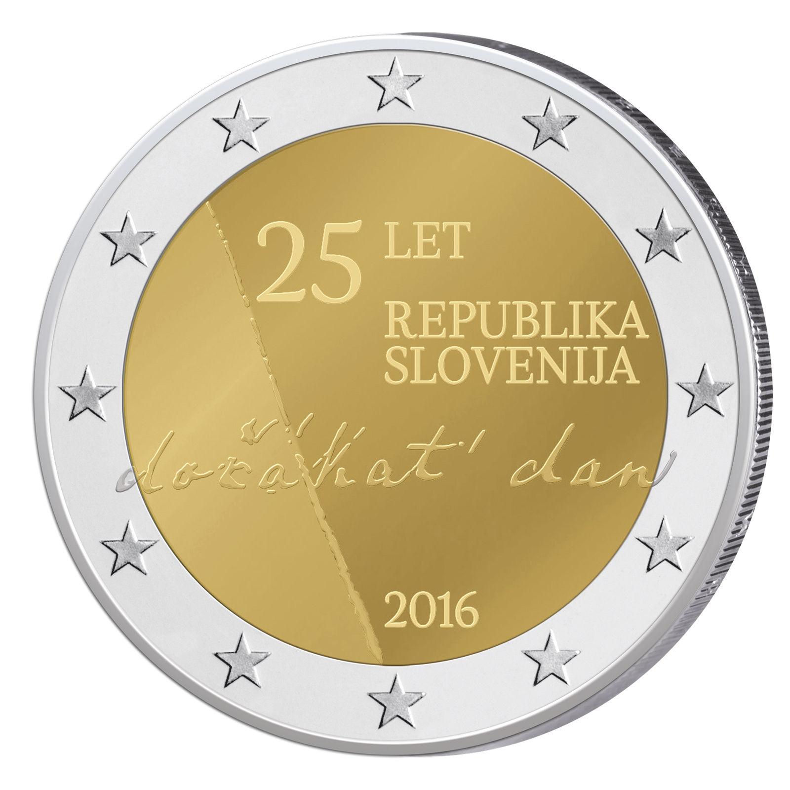 Словения 2 евро 2016 г. 25 -летие независимости