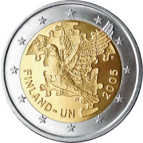 Финляндия 2 евро 2005 г.  ООН