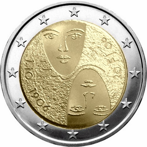 Финляндия 2 евро 2006 г.  Избирательное право